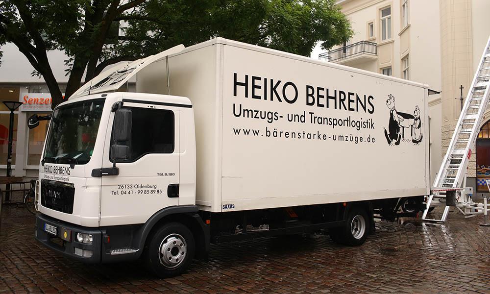 Ein LKW von Behrens Umzugs- und Transportlogistik